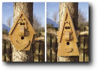 Birdhouse Creatures Woodworking Plans