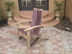 Wine Barrel Adiorndack Chair Woodworking Plasns