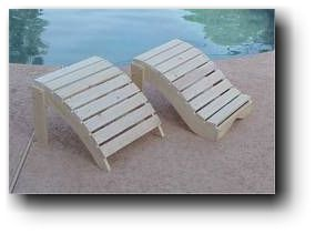adirondack footrests wood plans