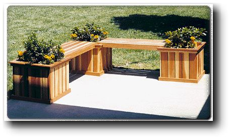 planter bench wood plans