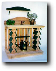 bird house potting table wood plans