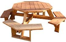 Bench table chair get octagon picnic table plans with umbrella hole free octagon picnic table plans woodworking watchthetrailerfo