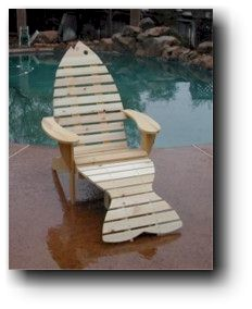 Adirondack Fish Chair Wood Plans