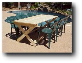 folding table wood plans